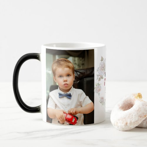 Best MOM Ever Mothers Day Kid Pet Photo Collage Magic Mug