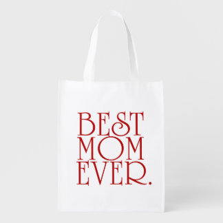 Best Mom Ever Mother's Day  Tote Bag Reusable Grocery Bags