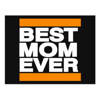 Best Mom Ever Orange Postcard