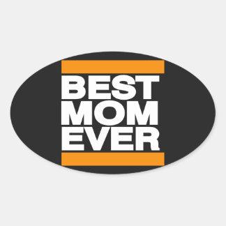 Best Mom Ever Orange Stickers