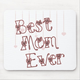 Best Mom Ever Pink Mouse Pad