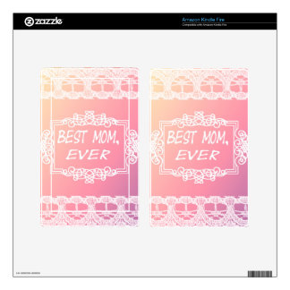 Best Mom Ever Pink Pastel mother's day gift Decal For Kindle Fire