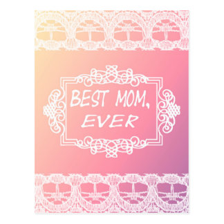 Best Mom Ever Pink Pastel mother's day gift Postcard