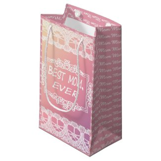 Best Mom Ever Pink Pastel mother's day gift Small Gift Bag