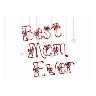 Best Mom Ever Pink Postcard