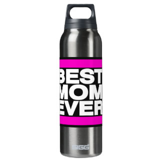 Best Mom Ever Pink Thermos Water Bottle