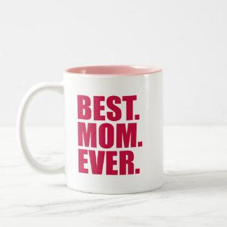 Best. Mom. Ever. (pink) Two-Tone Coffee Mug