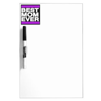 Best Mom Ever Purple Dry-Erase Board