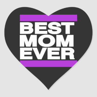 Best Mom Ever Purple Heart Sticker