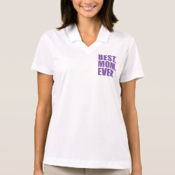 Women's Nike Dri-FIT Pique Polo Shirt with Best. Mom. Ever. (purple) design