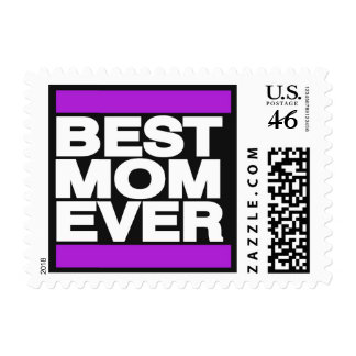 Best Mom Ever Purple Stamps
