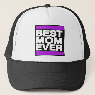 Best Mom Ever Purple Trucker Hat