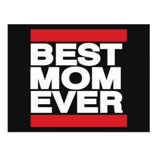 Best Mom Ever Red Postcard