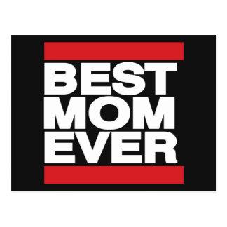 Best Mom Ever Red Postcard