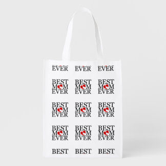 Best mom ever reusable grocery bag