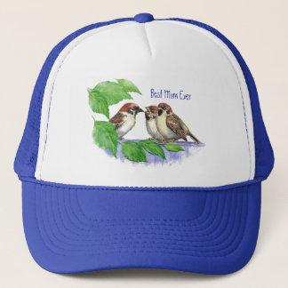 Best Mom Ever Sparrow, Cute Bird Family Trucker Hat