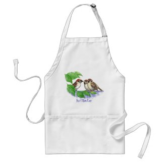 Best Mom Ever Sparrow Family apron