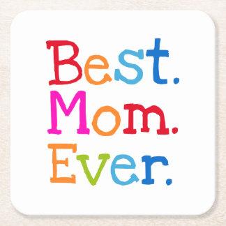 Best Mom Ever Square Paper Coaster