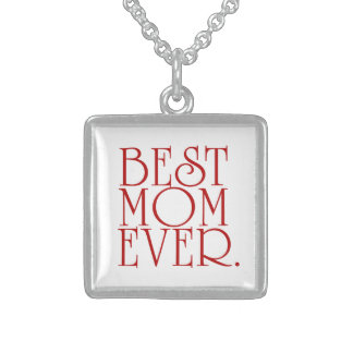 Best Mom Ever Square Pendant Necklace