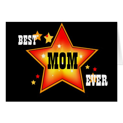 Best mom ever star greeting card template zazzle for Best holiday cards ever