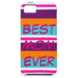Best Mom Ever Summer Striped iPhone 5 Case