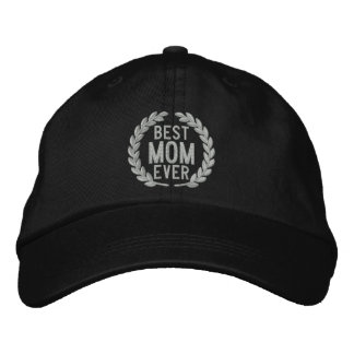 Best Mom Ever SuperMom Laurels Embroidery Embroidered Baseball Hat
