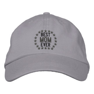 Best Mom Ever SuperMom Stars Embroidery Embroidered Hat