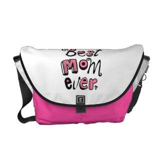 Best Mom Ever Text Design Courier Bag