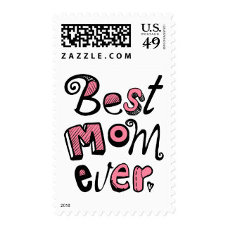 Best Mom Ever Text Design Postage