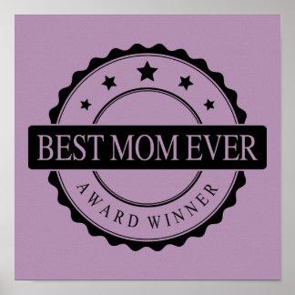 Best mom ever - Winner Award - Black Print