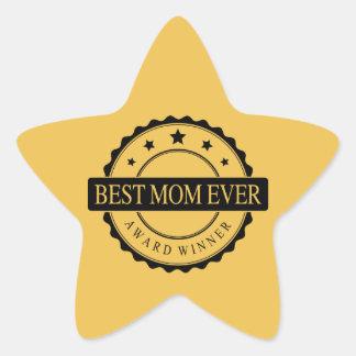 Best mom ever - Winner Award - Black Star Sticker