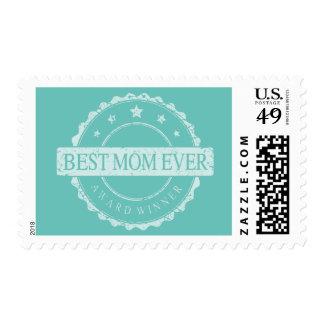 Best Mom Ever - Winner Award - Grunge Postage