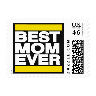 Best Mom Ever Yellow Stamps