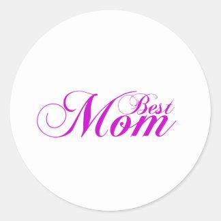 Best Mom Gift Classic Round Sticker