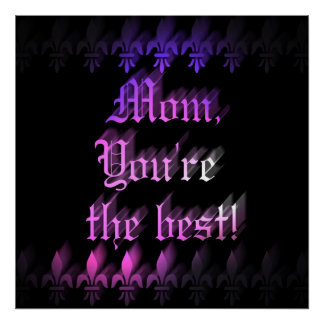 Best mom gothic style Mothers Day Poster