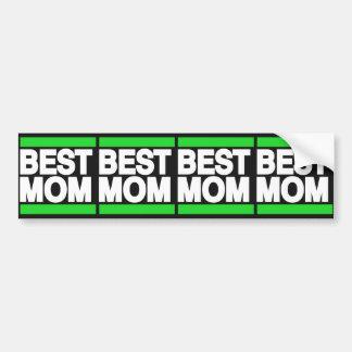 Best Mom Green Bumper Sticker