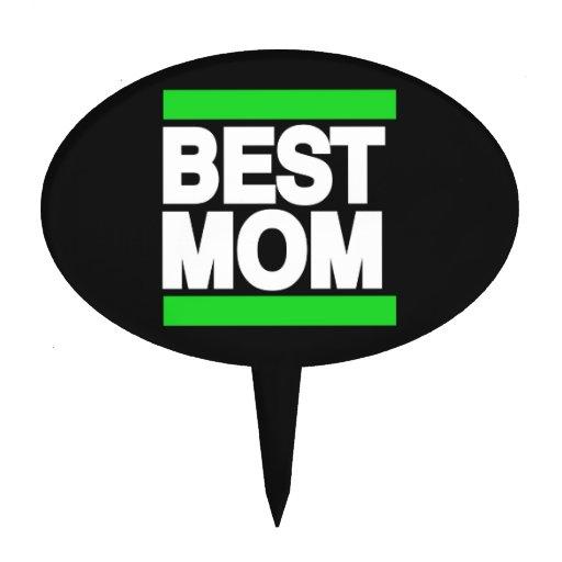 Best Mom Green Cake Pick