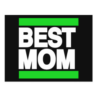 Best Mom Green Postcard