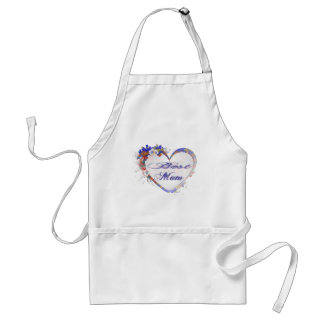 Best Mom Grunge Floral Heart Gifts Adult Apron