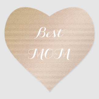 Best Mom. Heart Sticker
