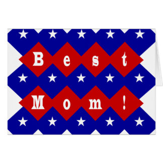 Best Mom in Patriotic Diamond Shape