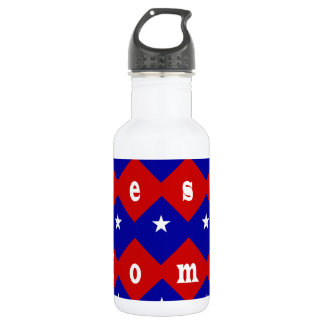 Best Mom in Patriotic Diamond Shape Stainless Steel Water Bottle