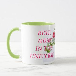 Best.Mom.in the Universe. Mothers Day Rose Design Mug