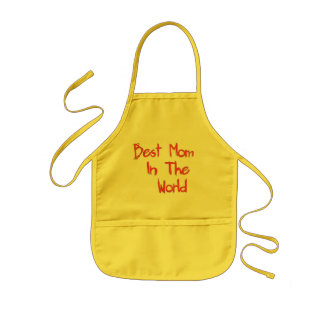 Best Mom In The World Kids' Apron