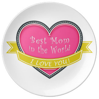 Best Mom in the World Porcelain Plate