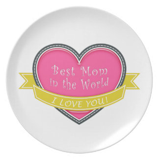 Best Mom in the World Party Plates