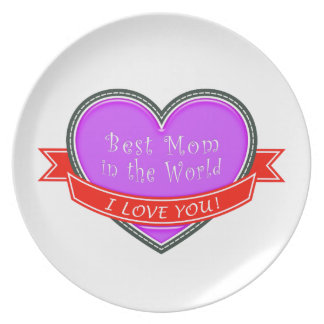 Best Mom in the World Plates
