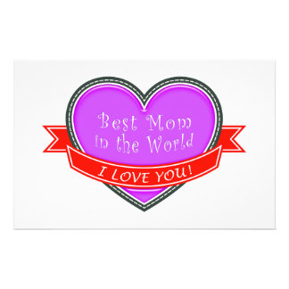 Best Mom in the World Stationery