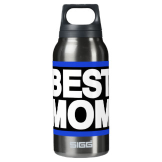 Best Mom Lg Blue Insulated Water Bottle