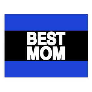 Best Mom Lg Blue Postcard